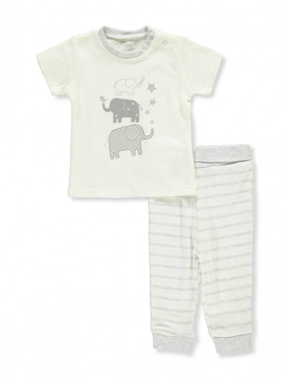 Rene Rofe Baby Boys' 2-Piece Outfit - ivory, 3 - 6 months