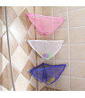 PWFE Children Storage Mesh Bag Bathroom Suction Cup Baby Shower Storage Bag Wall-Mounted Mesh Bag With Suction Cup