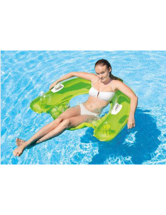 Intex Inflatable Sit n' Float Pool Lounge (Green or Teal Blue)