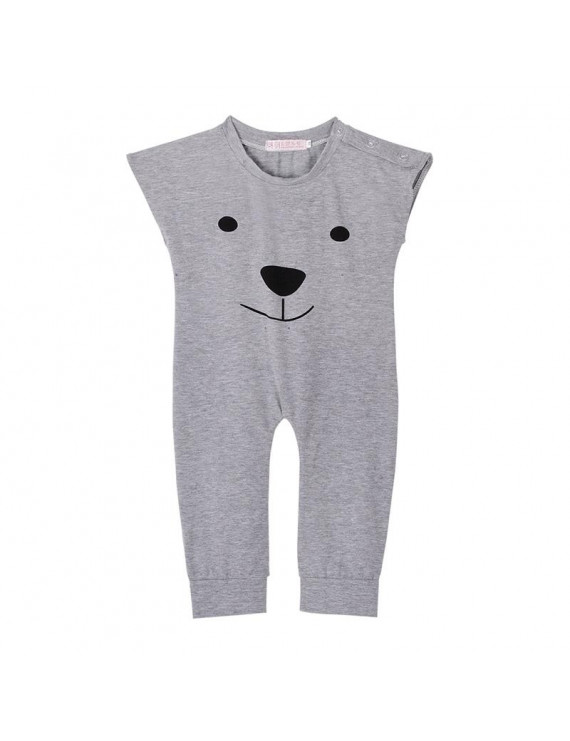 Newborn Rompers Baby Girls Boys Bear Sleeveless Jumpsuit Infant Outfits Clothes 0-24M