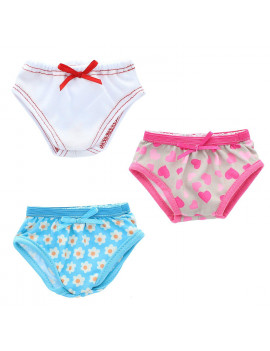 "Doll Clothes - Underwear Panties Set Fits American Girl 18"" Pink Butterfly Closet"
