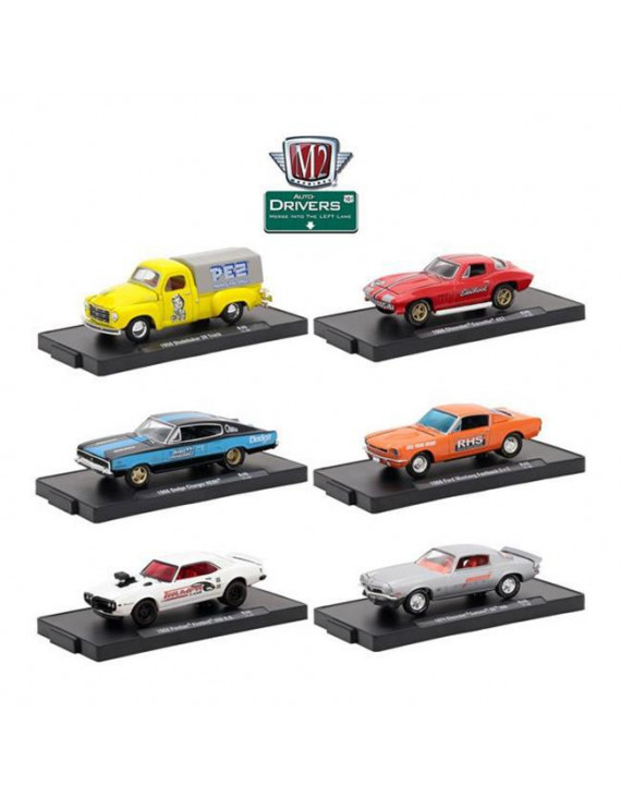 M2 11228-46 46 in. Auto Drivers Release 1-64 Scale By M2 Machines - Set of 6