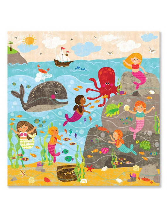 Oopsy Daisy  'Mermaid Mingle and Play' by Liza Lewis Canvas Wall Art