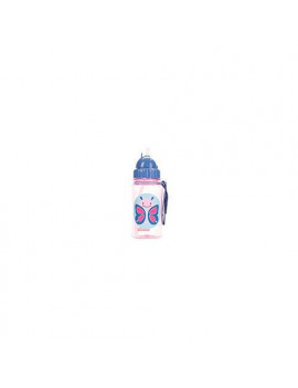Skip Hop Zoo Straw Bottle, Holds 12 oz, Blossom Butterfly
