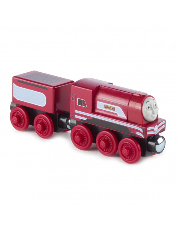 Thomas & Friends Wood Caitlin Wooden Train Engine with Cargo Car