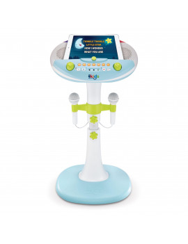 Singing Machine Kids Pedestal with lights, detachable unit, and 6 fun voice changing effects