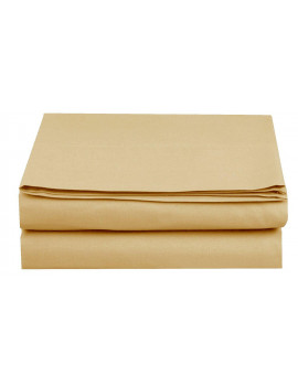1500 Thread Count Hospitality Fitted Sheet 1-Piece Fitted Sheet, Queen Size, Gold