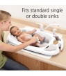 Safety 1st Newborn to Toddler Bathtub With SlideGuard, White