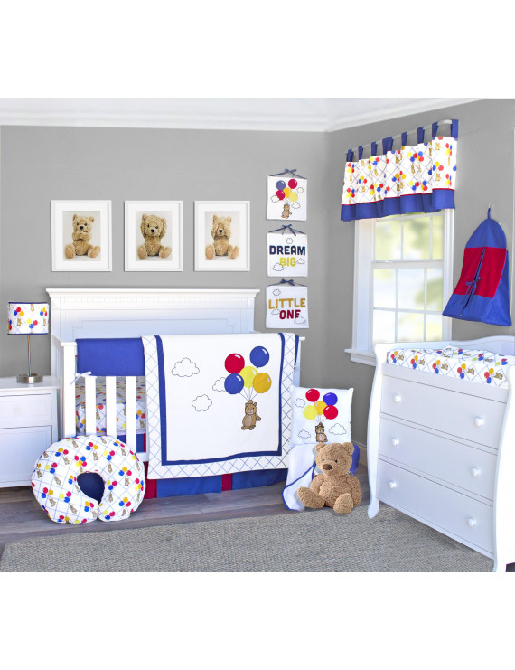 Pam Grace Creations Classic Teddy Bear 10-Piece Crib Bedding Set