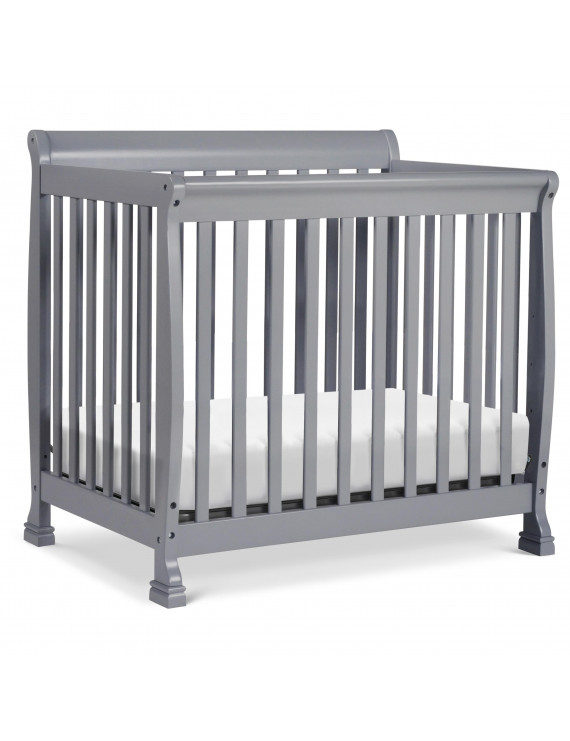 DaVinci Kalani 4-in-1 Convertible Mini Crib, Gray