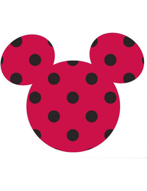 Disney Mickey Small Ears Adhesive Printed Burlap, Red