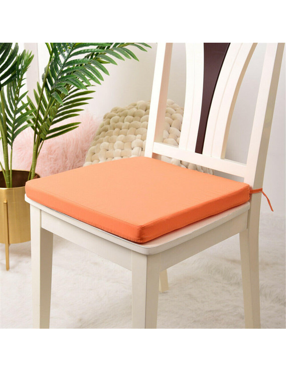 LA HIEBLA Removable Square Chair Seat Pad Tie On Garden Waterproof Placement