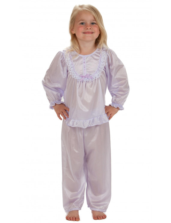 Laura Dare Girls Solid Colors Long Sleeve Traditional PJ Set Baby-Toddler, 9m - 4T