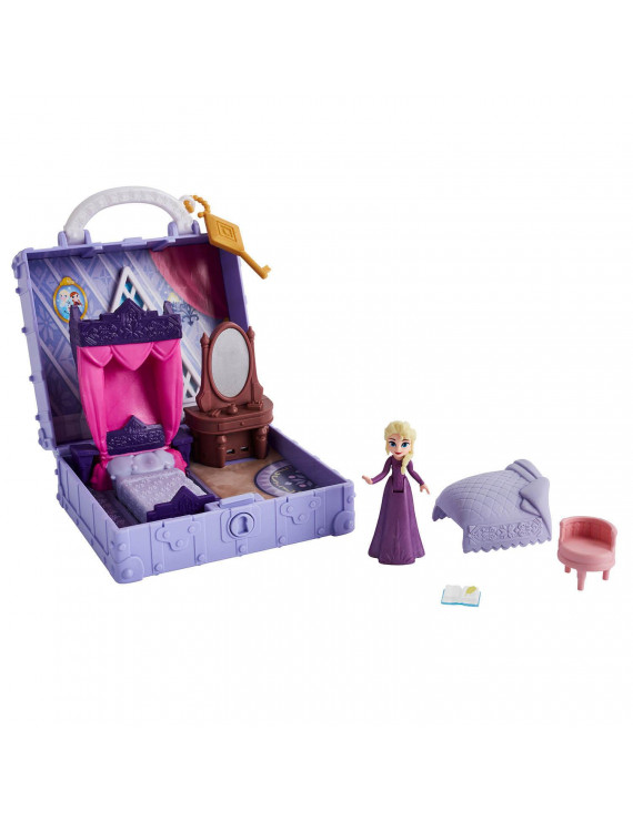 Disney Frozen 2 Portable Pop-up Elsa's Bedroom Playset with Elsa Doll