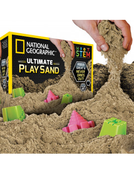 National Geographic Ultimate Natural Play Sand 6 lbs with 6 Castle Molds