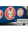 Delta Children Marvel Avengers Upholstered Twin Bed, with Thor, Iron Man, Hulk, & Captain America