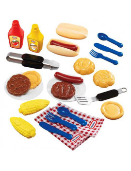 Little Tikes Backyard Barbeque, 26 Piece Grillin' Goodies Play Food Set