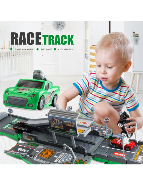 TOOLS Collapsible Double Form Military Base Turck Toys Car With Ejection Function