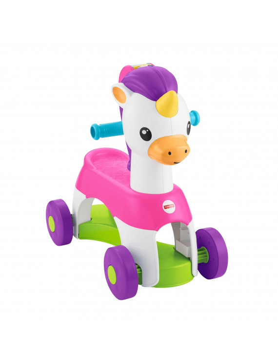Fisher-Price Rollin' Tunes Unicorn with Music, Phrases, & Sounds