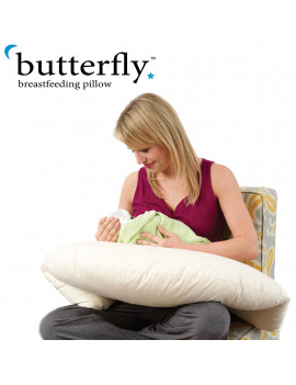 BUTTERFLY BREASTFEEDING PILLOW W/ POSITIONING WINGS FOR PROPR LTCH
