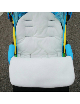 (White) Baby stroller sleeping bag umbrella car windproof and windproof warm cotton cushion thickened section