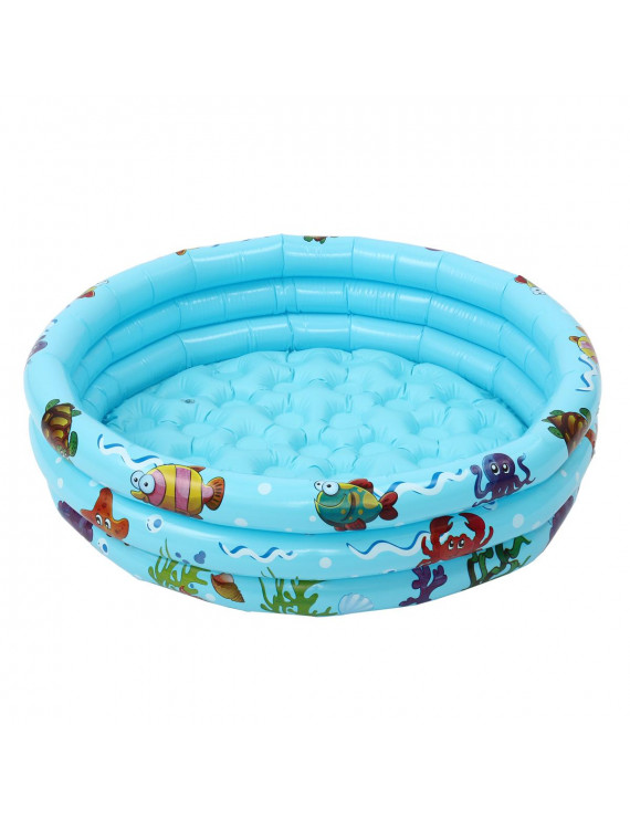 35'' Baby Kids Inflatable Round Swimming Pool,PVC 3 Layer Toddler Paddling Pool ,Inflatable Bathtub for Outdoor Indoor Home Garden Summer
