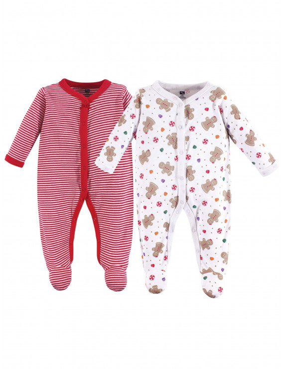 Holiday Sleep N Play Pajamas, 2pk (Baby Girls)