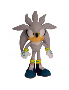 """GE-8960 Sonic The Hedgehog 13"""" Plush Doll, Silver, Officially Licensed by Great Eastern By Great Eastern"""