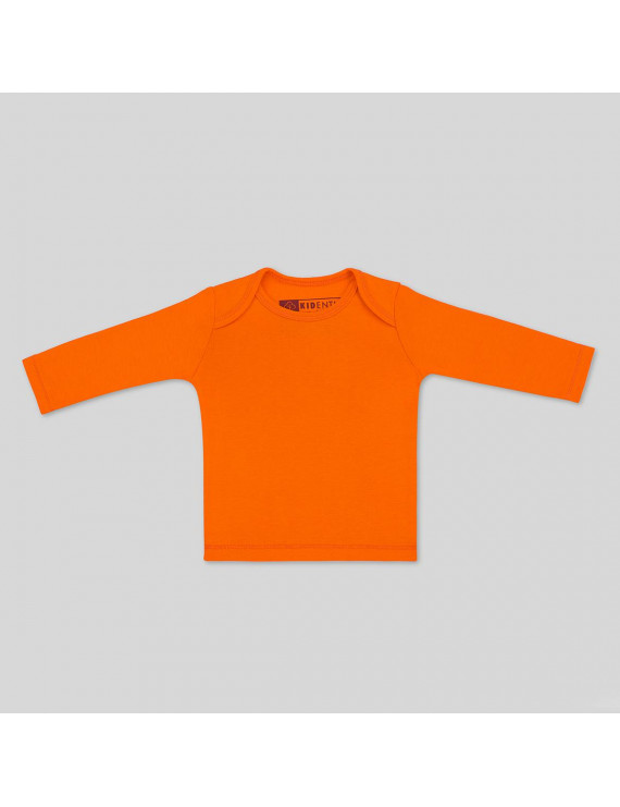 Baby Long Sleeve Tee - 6-9 Months, Orange