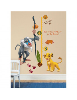 LION KING Wall Decals Kids GROWTH CHART Rafiki Simba Room Decor Stickers