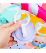 5 in1 Baby Infants Ring Bell Kid Toys Play Musical Pedal Piano Activity Fitness Gym Mat Blanket Baby Kick & Play Piano Educational Toys Gifts