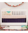 Babyletto Harlow 3-in-1 Convertible Crib with Toddler Bed Conversion Kit - White
