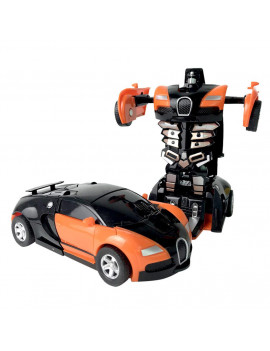 snorda 1:32 Pull Back The Collision Car Children Deformation Car Robot Toy For Kids