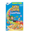 General Mills, Lucky Charms Breakfast Cereal, with Frosted Flakes, Marshmallow Cereal, Family Size, 20.9 oz