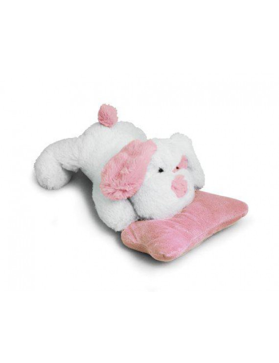 Beverly Hills Teddy Bear Company Puppy with Rattle, Pink