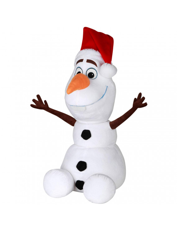 "Disney Frozen 21"" Olaf Plush Christmas Greeter"