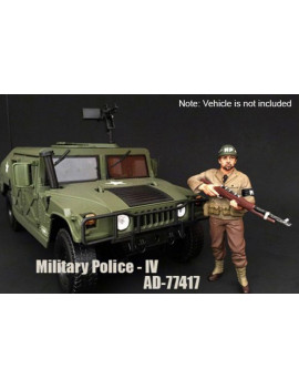 WWII Military Police Figure #4 - American Diorama 77417 - 1/18 Scale Diecast Model Toy Car