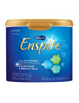 Enfamil Enspire Baby Formula, Our closest to Breast Milk - Powder, 20.5 oz Reusable Tub