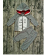 2Pcs Toddler Kids Baby Boy Shark Clothes Hooded Tops Pants Spring Outfits Set