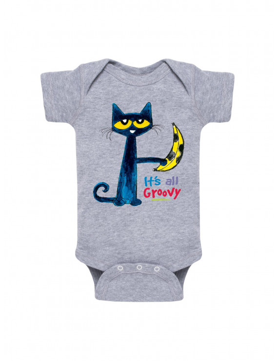 Pete The Cat It's All Groovy Banana  - Baby One Piece