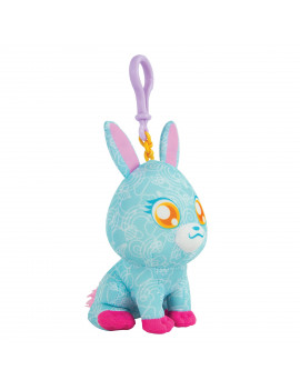 The Original Doodle Bear Clip-On Plush Toy with 1 Mini Washable Marker - Blue Bunny