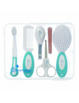 10 Piece Essential Grooming Kit, Aqua, Dreambaby Hair Brush Soft and gentle on the scalp and with an easy grip toddler sized handle, a great.., By Dreambaby Ship from US