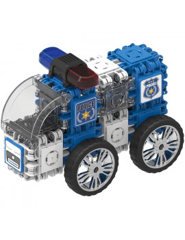Clicformers Police Car and Wheels 72 Pieces