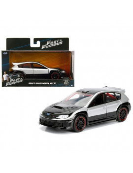 1 isto 32 Brians Subaru Impreza WRX STI Fast & Furious Movie Diecast Model Car - Silver & Black