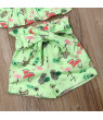 USA Newborn Toddler Girl Clothes Ruffle Tops Bow Shorts Pants Dress 2PCS Sunsuit