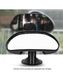 1Pc Adjustable Car Baby Child Back Seat Rear View Safety Mirror With Suction Cup Black, Child Safety Mirror, Baby Car Mirror