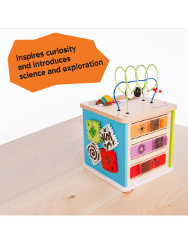 Baby Einstein Innovation Station Wooden Activity Cube Toddler Toy, Ages 12 months +