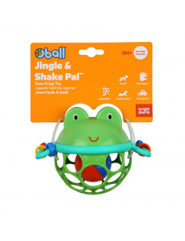 Oball Jingle & Shake Pal Easy-Grasp Rattle, Ages Newborn +