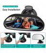 TSV Baby Rearview Mirror for Car Seat, 360 Degree Adjustable with Suction Cup, Black