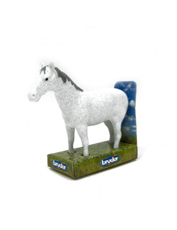 1/16th Bruder White Horse (made of durable rubber)